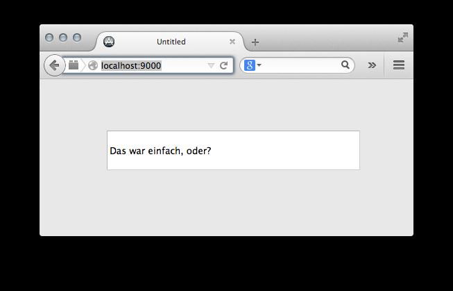 WebApp einfach