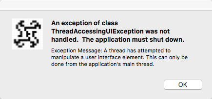 threadaccessinguiexceptionerror